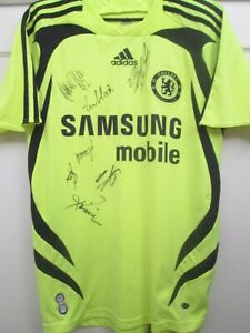 Chelsea 2007-2008 Away  by 10-11 Squad Signed Football Shirt with COA /44995