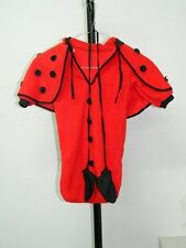 Vestito Costume Carnevale COCCINELLA bambina neonata 0 9 mesi rosso C24A