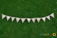 Bride To Be Heart Hessian Bunting Wedding Decorations Hen Photo Burlap Garland