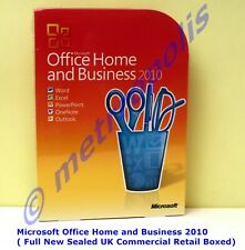 MICROSOFT OFFICE HOME AND BUSINESS 2010 - New Sealed Retail Boxed ( T5D-00159 )
