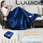 Electric+Heated+Blanket+Warm+Over+Throw+Flannel+Digital+Control+Timer+60x50%22+US