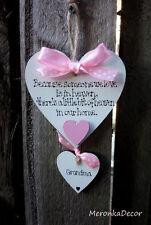 Il paradiso in casa nostra-Memoriale Ornamento di Natale-handmade-personalisedheart-Rosa