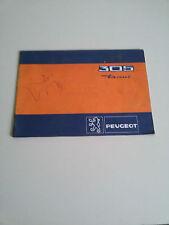 PEUGEOT 305 DIESEL Manuale USO MANUTENZIONE Libretto ORIGINALE - OWNERS MANUAL