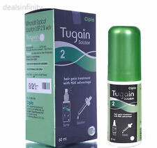 Pack 1 x Tugain 2% Solution Cipla Hair Loss Baldness Regrowth Promoter Men HLK