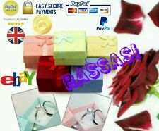 Wholesale Quality 50x Luxury Silk Bow Jewellery Gift Ring Box Job Lot UK SELLER.