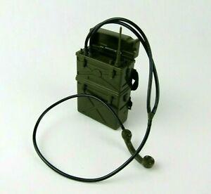 "1/6 Scale Hasbro G.I. Joe Green Field Radio Backpack Command Post For 12"" Figure"