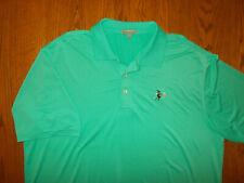 Peter Millar Summer Comfort Short Sleeve Green Golf Polo Shirt Mens Large Excell