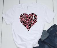 Heart Pink Distressed T-Shirt Bella Canvas Tee
