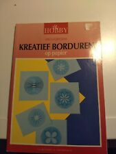HOBBY BOOK KREATIEF BORDUREN OP PAPIER DUTCH LANGUAGE 48 PAGES NEW