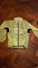 Castelli Fluorescent Yellow Rain Cycling Jacket Size Large (L)