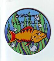 Williams FISH TALES Original 1992 NOS Pinball Machine Promo Plastic Coaster #2