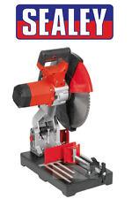"Sealey SM355B 355mm 14"" LARGE Mitre Cut Off/Chop Saw + Wood/Metal Blade 240v"