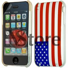 Cover Custodia Per iPhone 3G 3GS Bandiera America USA Americana + Pellicola