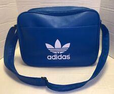 Adidas AIRLINE Trefoil Unisex Shoulder Bag Messenger Flight BLUE Laptop Handbag