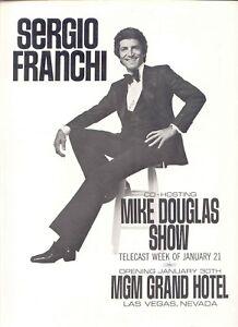 1974 RARE 'SERGIO FRANCHI' PR AD