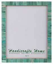 """8x10 Picture Frames Chic Photo Frame Mother of Pearl Handmade Vintage Gifts 8x10"""" Green"""