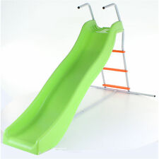 GREEN & ORANGE CRAZY WAVY SLIDE & STEP SET CHILDRENS KIDS GARDEN PLAY AREA NEW