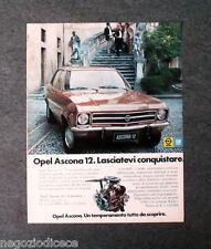 P242 - Advertising Pubblicità -1972- OPEL GM , ASCONA 12