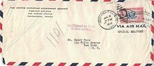 1942 Indianapollis, Indiana Airmail Special Delivery Cover with 16¢ Scott #CE2 ~