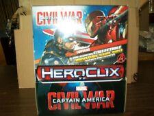 MARVEL HEROCLIX CAPTAIN AMERICA CIVIL WAR 24 CT GRAVITY FEED DISPLAY  #sjan17-19