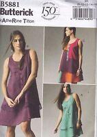 Butterick Katherine Tilton Easy Sewing Pattern Misses' Dress Size 8 -24 B5881