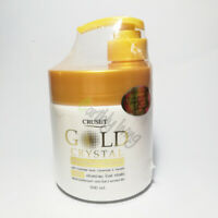 Gold Crystal Keratin complex Hair Repair Treatment Conditioner Dry Split Ends