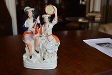 Antique Staffordshire Figure Pair Musicians