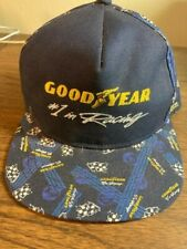 Vintage Goodyear Racing Trucker Hat Snapback Cap Swingster NOS