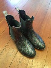 CREWCUTS Girls Glitter Rain Boots Size 4 Y