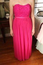 David's Bridal Bridesmaid Dress Style F17038 in Begonia *REDUCED*