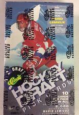 1992 Classic Draft Picks Hockey Factory Sealed Box Mario Lemieux Auto?