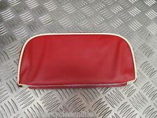 VESPA PX Lambretta 125 Trasero respaldo portador Rack Pad Rojo Crema Tubería