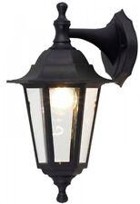 HISPEC LED GARDEN WALL MOUNTED BLACK 240V EXTERIOR FULL LANTERN LIGHT IP44 LAMP