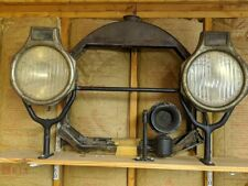 Locomobile Headlight Assembly with Stanchions Crossbar Horn and Radiator Shell