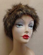 BLUE ILLUSION Fun Fashion FAUX FUR Hat Also Suit Chemo/Snow
