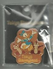 Disney pin Donald with Chip & Dale - Tokyo DL