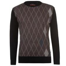 New 2018 Men's Pierre Cardin Crew Neck Argyle Sweater Casual Smart Sizes S-2XL