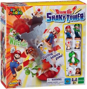 SUPER MARIO Blow Up Shaky Tower Exciting Balance Game