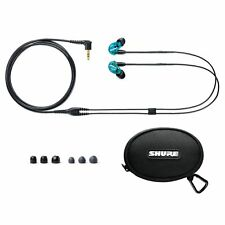 Shure SE215 Sound Isolating Earphones Single-driver In-ear Monitors Earbuds Blue