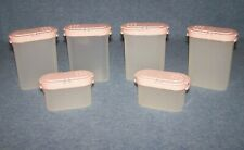 TUPPERWARE ASSORTMENT OF PINK SPICE SHAKER CONTAINERS LOT OF 6  NICE L@@K
