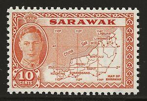 Sarawak Scott #195, Single 1952 Complete Set FVF MNH
