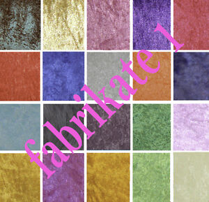 Crushed Velvet Velour Craft Dress Fabric 19 colours Available FREE P & P