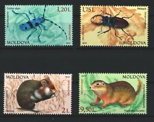 Moldova 2019 Fauna Animals & Insects, Red Book 4 MNH Stamps