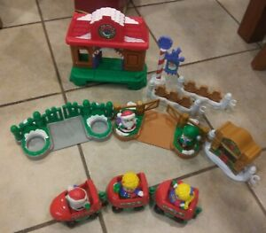 Fisher Price Little People Christmas Train Engine Lot