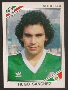 Panini Mexico 86 World Cup 86 Sticker Hugo Sanchez #124 Mexico Original FIFA WC