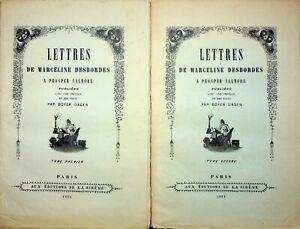 🌓 Lettres de Marceline Desbordes à Prosper Valmore éd. de La Sirène 1924 2 vol.