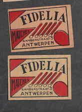 Ancienne   étiquette  Allumette  Belgique BN2225 Fedellia