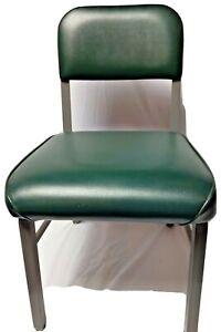 "HON Tanker Style Scatter Chair Industrial Vintage Metal 29"" x 18"" x 18"" Green #6"