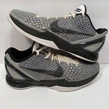 Nike Zoom Kobe VI 6 TB Gray Black sz 12 429659-007 Grey White Team Bank OG