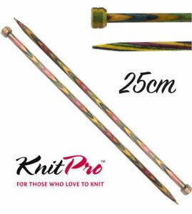 KnitPro Symfonie Wood Straight / Single Point Knitting Needles - 25cm Length